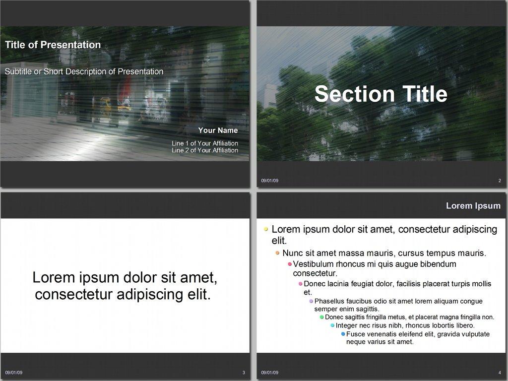 OpenOffice.org Impress Templates